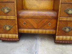 1940s Art Deco Furniture | American Vanity Dresser Art Deco Waterfall Bedroom Furniture