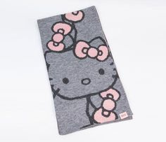 Hello Kitty Scarf: Grey and Pink