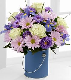 The Color Your Day Tranquility™ Bouquet by FTD® - VASE INCLUDED- Deluxe