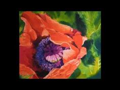 ▶ Watercolour Poppy by Elizabeth Tyler - YouTube