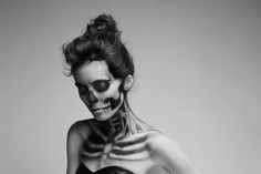 skull, halloween costume ideas, halloween costumes, body paintings, halloween makeup, skeleton, fashion photography, halloween ideas, crazy makeup