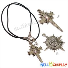 "$15.00  D Gray Man Necklace  Material:Metal and Hide rope  Pendant:about 1.5""  Includes:2 pcs"
