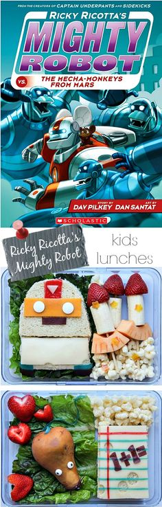 Ricky Ricotta inspired school lunches for kids - #RickyRicotta #ad