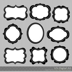These would make fabulous templates for frames. Must figure out a way to make it happen...