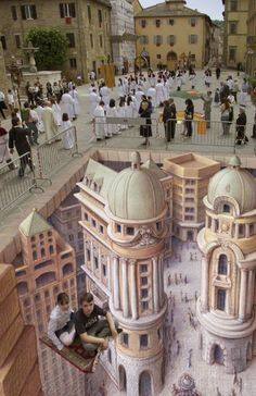 More 3D street painting by Kurt Wenner