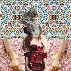 Carnet Mode de voyage. Digital collage art by Boubouteatime.