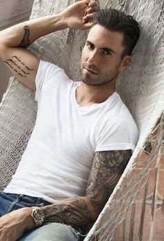 I will gladly share that hammock with you, Adam Levine.