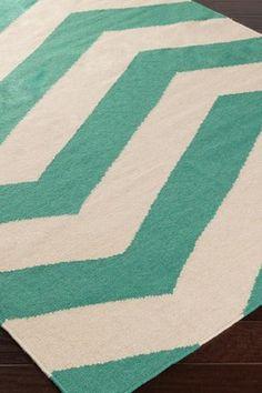 HauteLook | Surya: Surya Frontier Wool Rug - Taupe/Emerald
