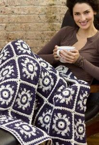 This Winter Sky Crochet Snowflake Pattern is one of the best Red Heart Yarn patterns for winter!  | AllFreeCrochetAfghanPatterns.com