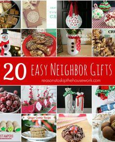 20 easy neighbor gift ideas for the holiday season.