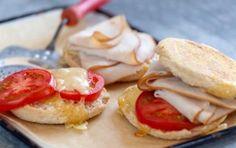 Turkey, Tomato and Emmentaler Breakfast Sandwiches!