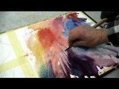Cool, loose watercolor video of the painting of a rooster