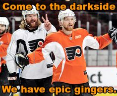 games, flyer fan, hockey, fans, dark side, sport, philadelphia flyers, gingers, meme