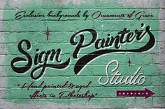 Check out Sign Painter's Studio by Vintage Design Co. on Creative Market