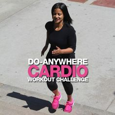 You can literally do this Cardio Workout Challenge ANYWHERE!  #cardio #workout #challenge