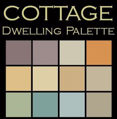 Cute & Homey Color Palette in 12 coordinated Benjamin Moore Paint colors for $25.