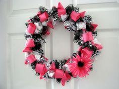 How to make a Ribbon Wreath- A little fancier than the rag wreaths...