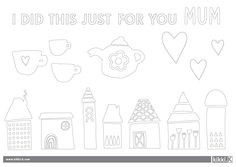 Print out for chitlins to colour in