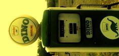 roadside Gas Pump w/ vintage DINO Gasoline