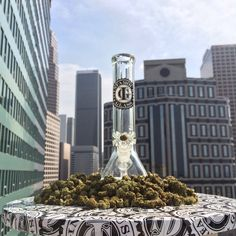 @infamousglass on @team420studios deck. #infamous #bong fueled by @exclusivefirela - best #weeddelivery #losangeles - be sure to check out Exclusive Fire's brand new site, proudly built by 420 Studios - ExclusiveFire.LA