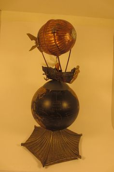 Steampunk airship. by VintageIlluminations on Etsy, $260.00