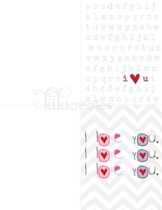 I Love You Cards {Free Download}... by kikicreates.blogspot.com