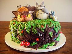 Totoro Cake!! With Catbus!! <3