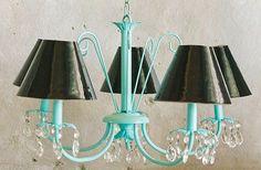 spray paint chandelier - via http://bit.ly/epinner