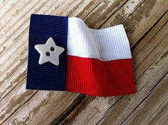 Texas Flag Ribbon Sculpture by patyg13 on Etsy, $3.50
