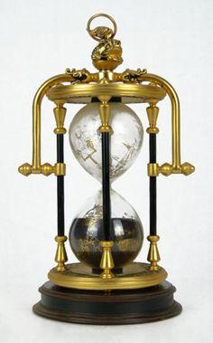 ORNATE BRASS SAND TIMER MARITIME HOUR GLASS