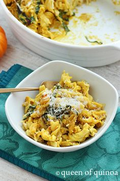 Pumpkin & chicken baked pasta recipe