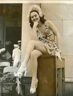 Beauty pageant circa 1940.