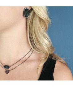 Decklyn Pendant Necklace in Gunmetal - Kendra Scott Jewelry. Coming October 15!