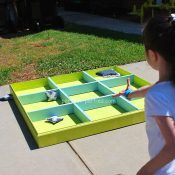 Tic-Tac-Toe outdoor game with beanbags