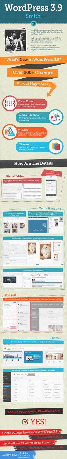 WordPress 3.9 #infografia #infographic #socialmedia