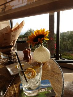 A birthday cocktail, a gorgeous view, and impeccable service at Pelican Hill! | www.pelicanhill.com |The Resort at Pelican Hill, Newport Beach, CA | #pelicanhillresort #memories