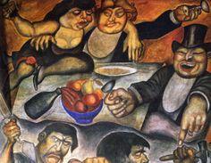 Orozco - (Los ricos banquetean mientras los obreros luchan)