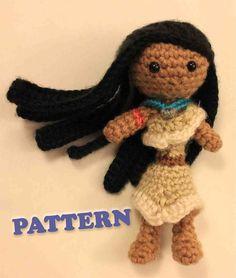PATTERN Pocahontas Princess Crochet Doll Amirugumi by Sahrit, $4.95