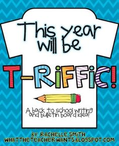 Your back to school bulletin board will look T-riiffic with this packet!