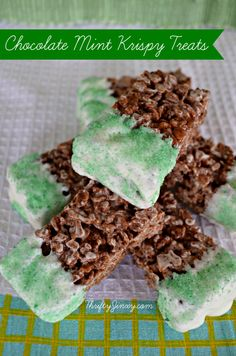 Chocolate Mint Rice Krispies Treats Recipe