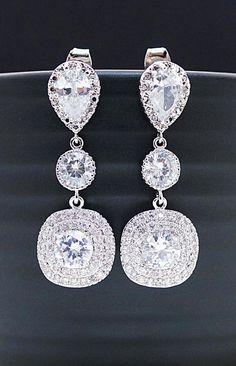 Wedding Bridal Jewelry Bridal Earrings Dangle