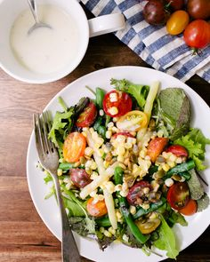 Summer Salad with Sesame Buttermilk Dressing | A Couple Cooks
