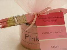 Pink birthday party invitations