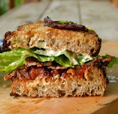 Candied bacon BLT w/ roasted tomatoes and jalapeno cream cheese (will roast the jalapenos!)