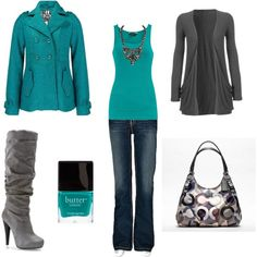 turquoise, color combos, winter colors, outfit, closet