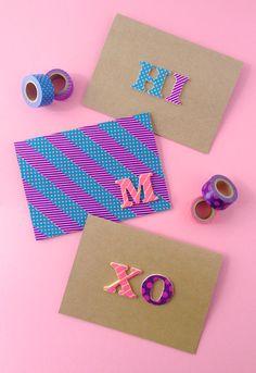 DIY Pop Letters Washi Tape Cards