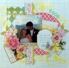sketch, echo park, scrapbook idea, echopark, wedding scrapbook layouts