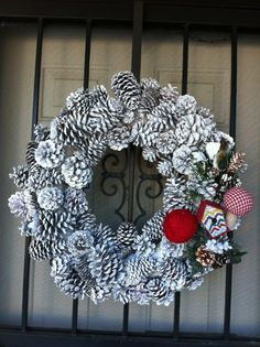 Winter Wreath with spray paint
