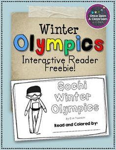 Sochi - Winter Olympics - Interactive Reader Freebie!