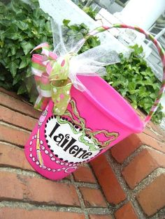 Easter basket bucket pailhandpainted personalized by dillydAllie
